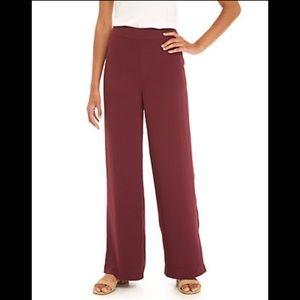 💃🏼3/$30 Ann Taylor 100% Silk Maroon Lounge Pant